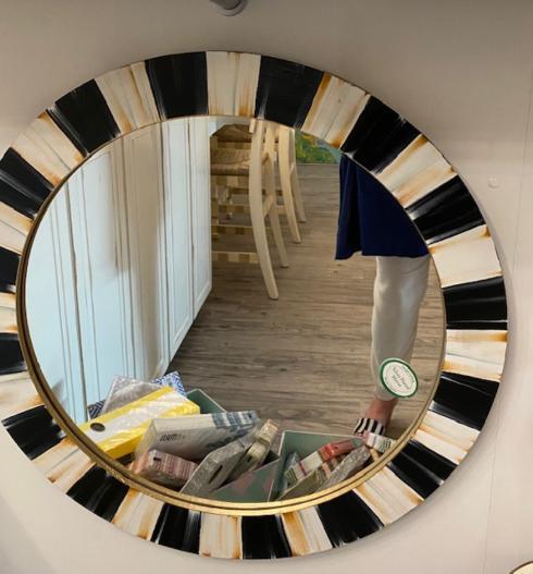 """$160.00 Handpainted Mirror 24"""""""