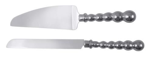 $90.00 Mariposa ~ Table Accessories ~ String of Pearls ~ Pearled Cake Server Set with Monogram