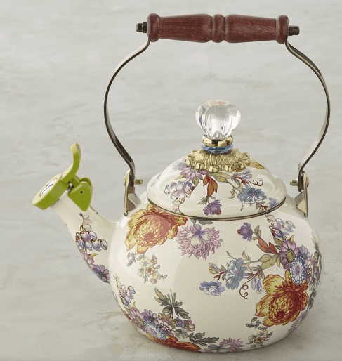 $140.00 Flower Market Whistling Teakettle