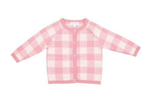 $45.00 Gingham Cardigan Pink