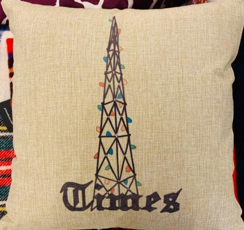 $50.00 Times Christmas Lights Pillow