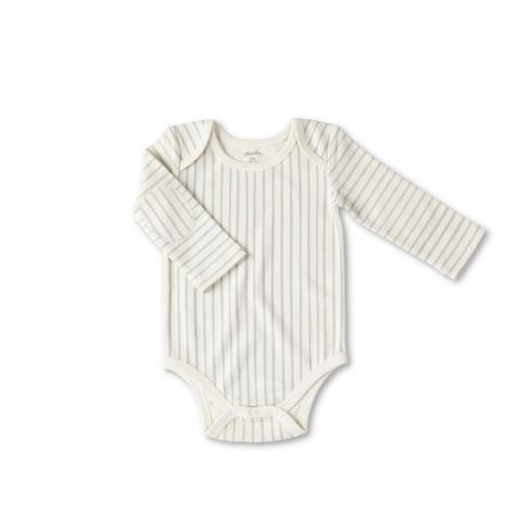 $28.00 Stripes Away One Piece Pebble