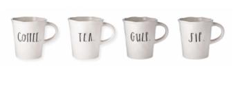 Stem Print - Set of Four Mugs