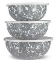 Golden Rabbit  Grey Mixing Bowl Set, Grey $76.00