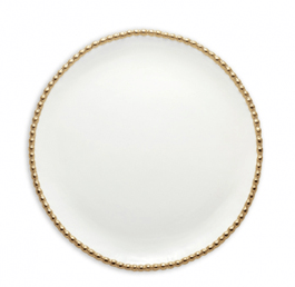 Gold Studded Round Platter
