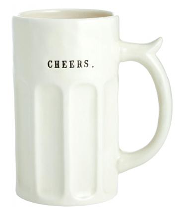 """Magenta Rae Dunn Beer Stein - """"Cheers"""""""