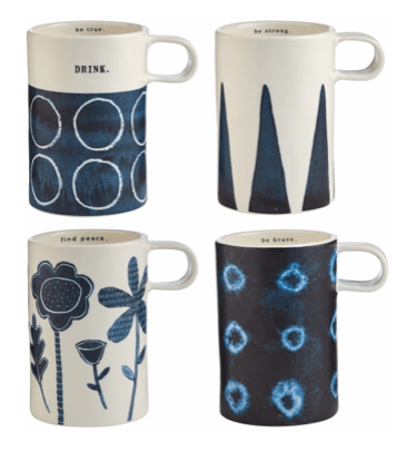 Magenta Rae Dunn Indigo Mugs collection with 1 products