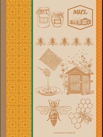 $21.00 Garnier-Thiebaut Linens Tea Towel - Bee