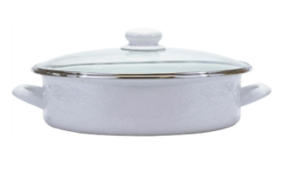 $63.00 Small Saute Pan, White