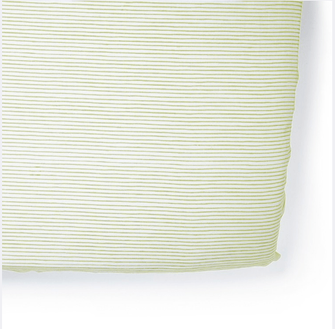 $36.00 Citron Pencil Stripe Crib Sheet
