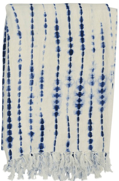 $84.00 Rope Shibori Throw Indigo