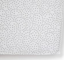 $38.00 Grey Dots Crib Sheet