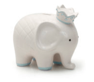 $36.00 Coco Blue Elephant Bank