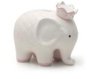 $44.00 Coco Pink Elephant Bank w/Vinyl Monogram