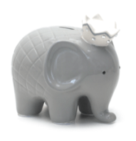 $44.00 Coco Grey Elephant Bank w/Vinyl Monogram