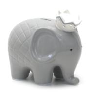 $44.00 Coco Grey Elephant Bank w/Vinyl Monogram