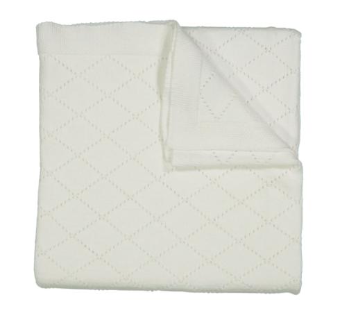 Feltman Brothers   Diamond Knit Pointelle Blanket $67.95