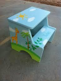 $98.00 Custom Handpainted Step Stool