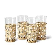 Two\'s Company   Rattan Wrapped Highball $14.00