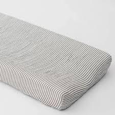$32.00 Stripes Away Changing Pad Cover-Gray