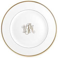 $145.00 Pickard Ivory Charger with Gold Monogram