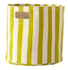 Citron Stripe Bin collection with 1 products