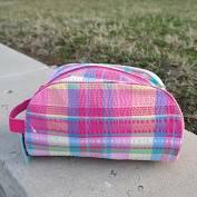 $15.00 Mint Popsicle Plaid Travel Bag