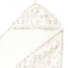 Pehr   Alphabet Hooded Towel $40.00