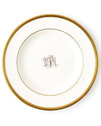 Gold Bracelet Butter Plate w/ monogram collection with 1 products