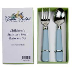 Golden Rabbit   Baby Blue Flatware $15.00