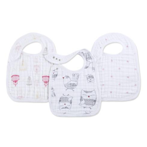 $19.95 Set 3 Nibble Snap Bibs