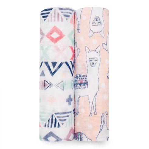 $32.00 Trail Blooms 2-pack classic swaddle