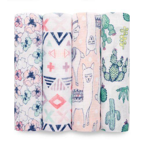 $49.95 Trail Blooms 4 Pack Classic Swaddle