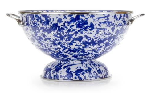 Golden Rabbit  Cobalt Cobalt Swirl Large Colander $42.00