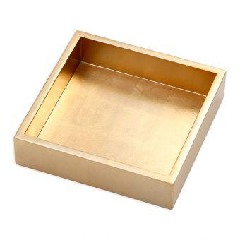 $24.00 Gold Napkin Box - Cocktail