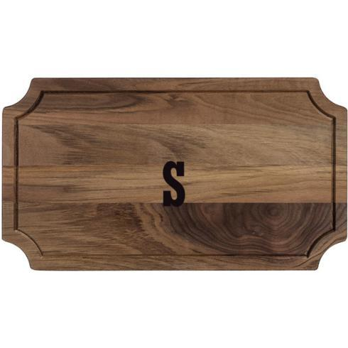 $95.00 Royalton Collection Black Walnut Rectangle Serving Board with Monogram