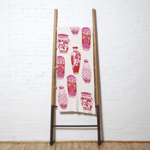 $165.00 Pink Dutch Delft Throw