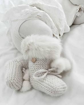 Petit Maison   Fur Trimmed Booties $60.00