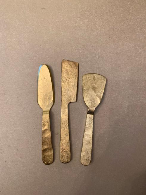 $40.00 Bronze Cheese Knives set of 3