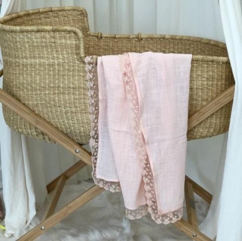 $65.00 Miss Rose Sister Violet Heirloom Lace Blanket