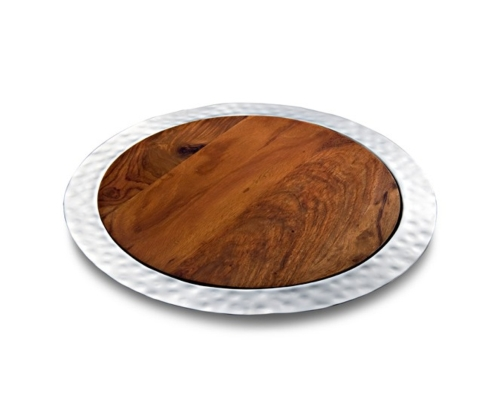 $270.00 Mary Jurek Sierra Round Tray w/ Rosewood Insert