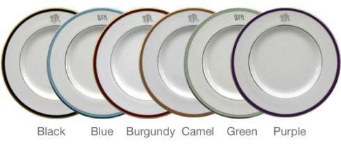 $50.00 Accent Salad Plate White/Platinum/Blue