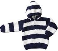 $45.00 Navy and White Stripe Chenille Jacket w/monogram