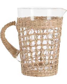 Two\'s Company   Rattan Wrapped Pitcher $45.00