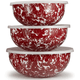 $76.00 Red Swirl Mixing Bowls