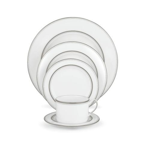 4 pc Place Setting White/Platinum, no monogram collection with 1 products