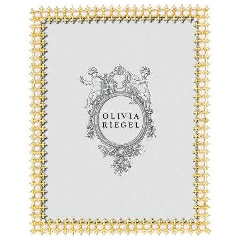 "Olivia Riegel  Gold Crystal & Pearl Gold Crystal & Pearl 8"" x 10"" Frame $160.00"