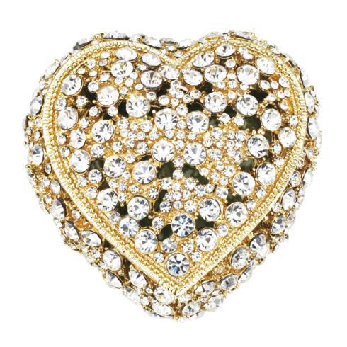 $185.00 Gold Crystal Heart Box