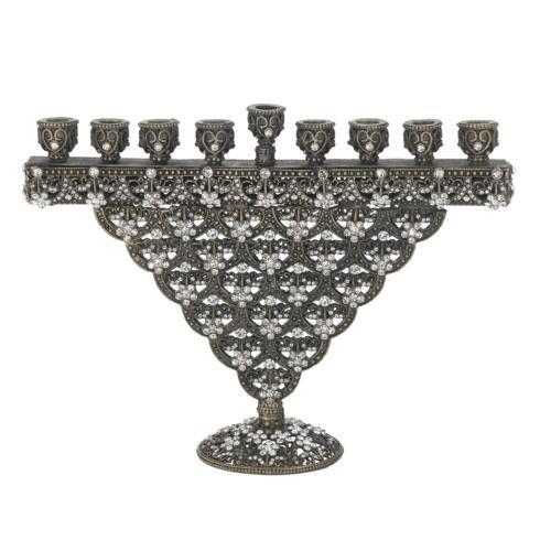 $275.00 Bronze Crystal Sinclair Menorah