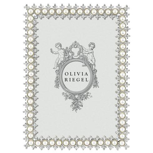 "Olivia Riegel  Crystal & Pearl 5"" x 7"" Frame $100.00"